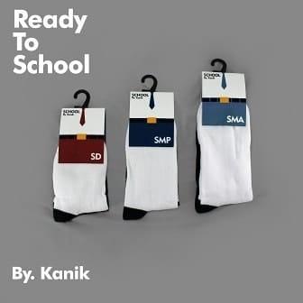 kaos kaki sekolah kanik